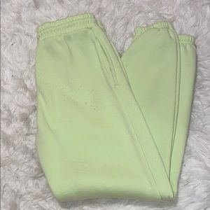 neon green sweatpant joggers💚